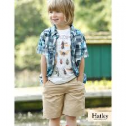 Shorts - HATLEY Boys  Woven Khaki in SALE 4, 5, 6, 8y