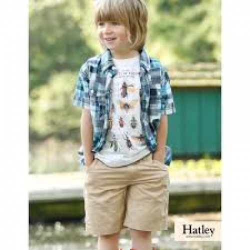 Shorts - HATLEY Boys - smart khaki cotton -  4, 5, 6, 8y  - sale