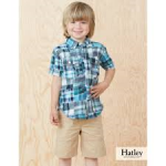 Top - Hatley Boys Shirt in Madras plaid - 4y