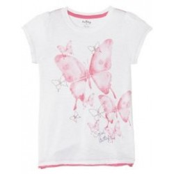 Top - Hatley Girls Ditsy Butterflies Graphic 3, 6y