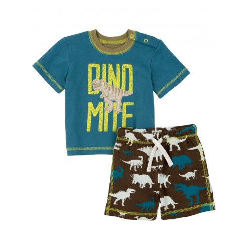 Set - Hatley Baby  Wild dino - top and shorts - 6-12m, 3-6m - sale