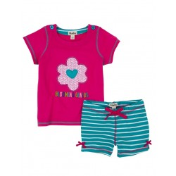 Set - HATLEY - Girls top and shorts - flower -  SALE 2y