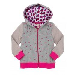 Jacket - Hatley Girls Hoody - Lady Bug Garden - Little hearts  -6, 7 y