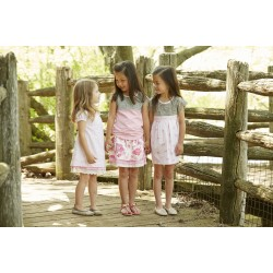 Skirt - Hatley Girls - Reversible in Horse and flowers SALE  4 and  7y