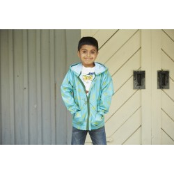 Raincoat - Hatley - Boys Lighweight jacket - Jumping frogs in SALE 3,4