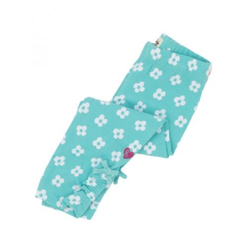 Leggings - Hatley Baby Girls - ditsy flower aqua  (3-6, 6-12 , 12-18m)