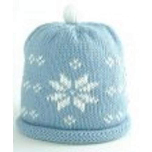 Hat - Blue Snowflake  - 0-3m sale