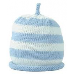 Hat - Blue Stripe 0-3, 3-6m sale