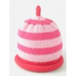 Hat - Pink/Fuchsia/Red Stripe 3-6, 6-12m sale