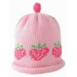 Hat - Pink Strawberry Row 0-3m sale