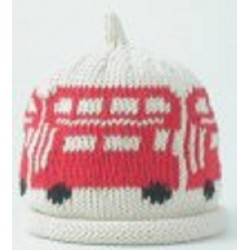 Hat - Cream and Red Bus - 3-6m sale