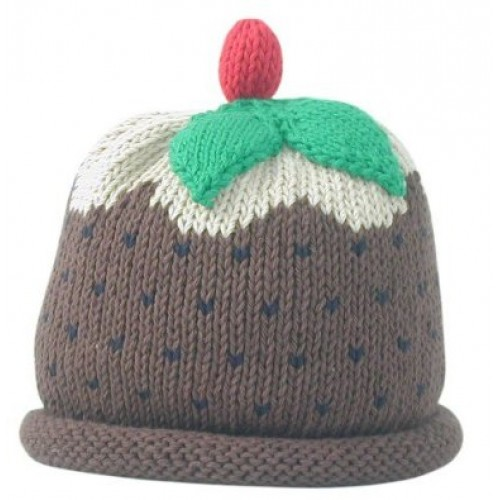 Hat - Christmas Pudding- 0-3, 3-6, 6-12, 12-18m s- ale
