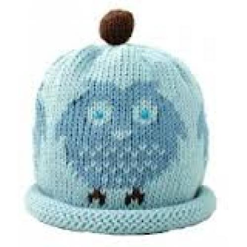 Hat - Blue Owl - 3-6, 6-12m sale