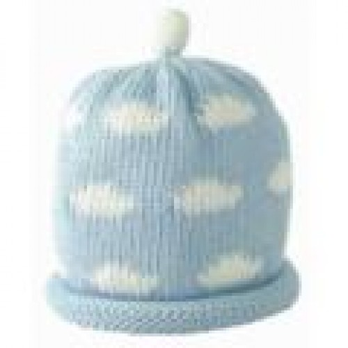 Hat - Sky blue with clouds 0-3, 3-6m sale