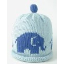 Hat - Sky/Royal Elephant 0-3, 3-6, 6-12m sale