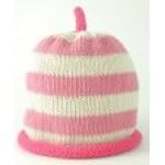 Hat - Dusky / Cream/ Fuchsia Pink 0-3, 3-6, 6-12 sale