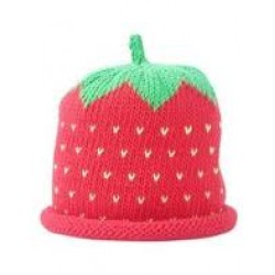 Hat - Red Strawberry 6-12m sale