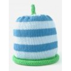 Hat - Sky with Turquoise and Apple Stripe 3-6, 6-12m sale