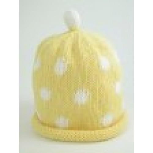 Hat - Lemon / White Spots 0-3, 6-12m