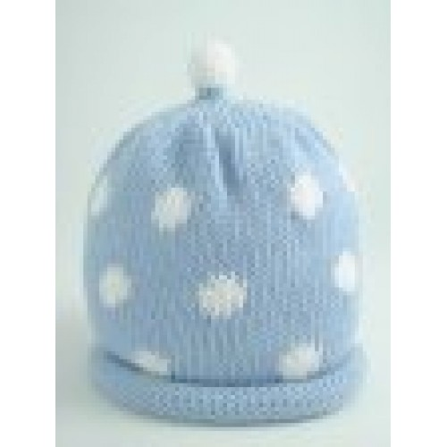 Hat - Sky with White Spots 0-3, 3-6, 6-12 sale