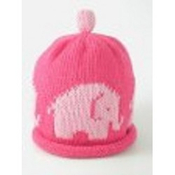 Hat - Pink Elephant - 0-3m sale