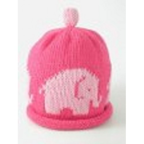 Hat - Pink Elephant - 0-3m sale