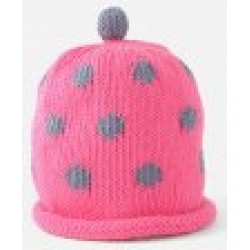 Hat - Fuchsia purple spot 0-3m sale