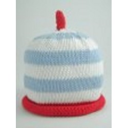 Hat - Merry Berries - Pale Blue white red stripe  0-3m sale