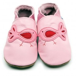 Shoe - Bird in pink - 0-6m, 6-12, 12-18m
