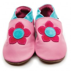 Shoes - Clearance -  - Kirstie Rose Pink  flower- 0-6,m, 12-18m