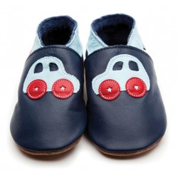Shoes - Clearance  - Car navy/baby blue Large - 0-6, 6-12m- in SALE