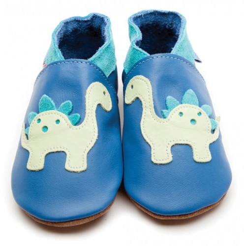 Shoes - Dinosaur Blue - small 0-6, medium 6-12m (sale)