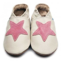 Shoes - Clearance  - Starry Cream / Dusky Rose 0-6m 12-18m in SALE