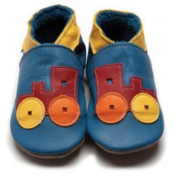 Shoes - Toot Train Blue - 0-6, 6-12, 12-18m in sale