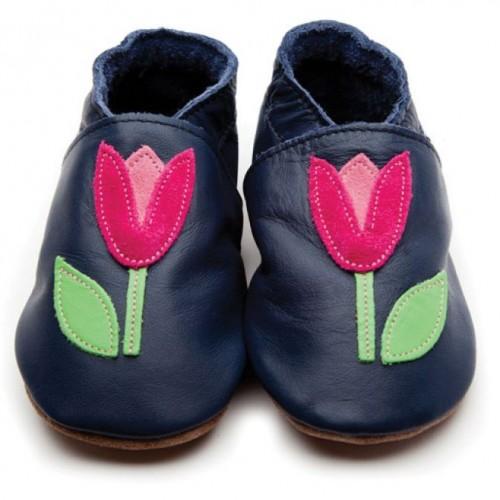 Shoe - Tulip Navy 0-6m , 6-12, 12-18m in sale (purple not navy)
