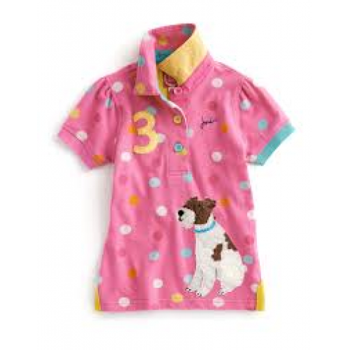 Top - Joules - Girls Polo in Candy 5-6, 7-8 SALE