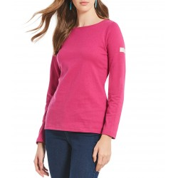 farmyAdult -  Top - Joules - Harbour - Plain Fuchsia - sale