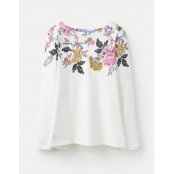 Adult - Top - Joules - Harbour Print -  Cream and Chinoise Border - UK 12 - sale