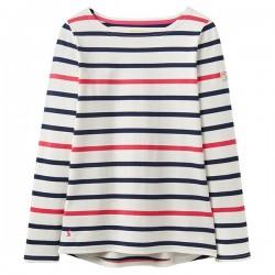 Top - Joules - Harbour - Navy Raspberry Stripe  - Sale