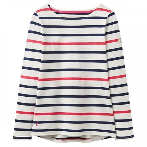 Adult - Top - Joules - Harbour - Navy Raspberry Stripe  - Sale
