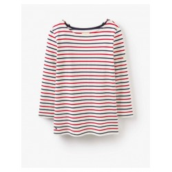 Adult - Top - Joules - Harbour Cream  Red and Blue - SALE