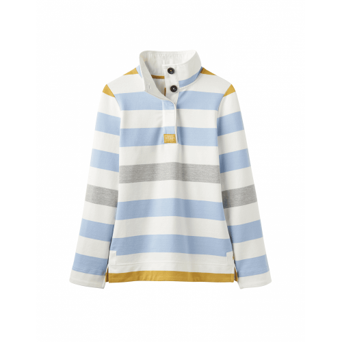 Adult - Joules  - Ladies - Saunton Sweatshirt - Blue Gold Stripe - Sale