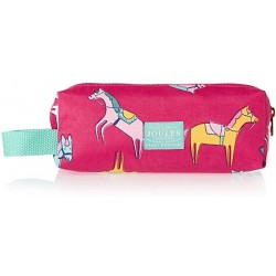 Pencil Case  Bag - Joules - Pink Horse Print  - sale
