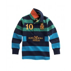 Sweatshirt - Joules Boys  Rugby Shirt - Mischief in  Navy stripe  4y, 5y  SALE