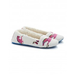 Slippers - Slippers - Creme Horse  - Small 10/11  (2x)  - sale