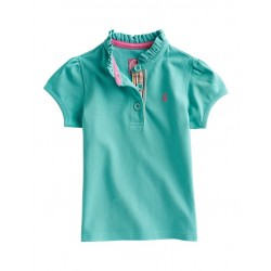 Top - Joules Girls Polo -  Aqua  - last 6y - sale