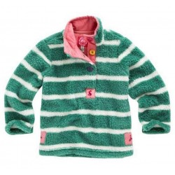 Fleece - Joules - Girls Fleece, Aqua Stripe in sale  6y  SALE