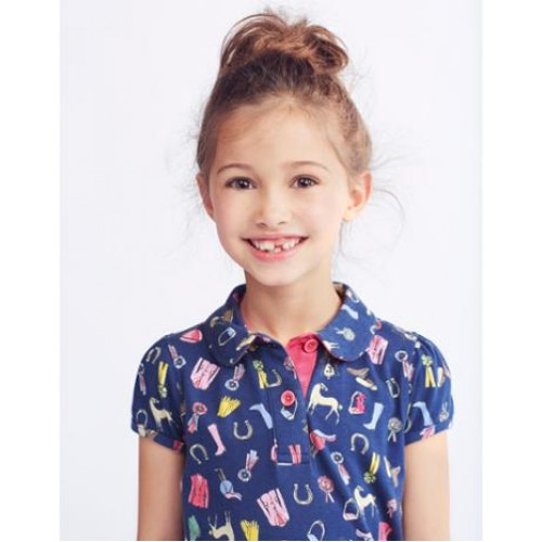 Top - Joules Girls  Lena,  Navy Horsey Dolly Mixture - left 7y - SALE