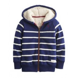 Jacket - Joules Boys Fleece Lined Full Zip Hoody LAST  in SALE -  7 y