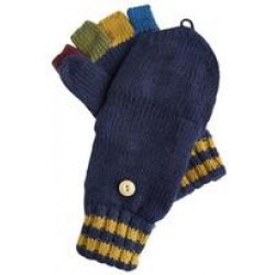 Glittens - Joules  Boys Contrast Fingers, Navy  - S/M size